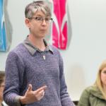 Pam Forman teaching photo