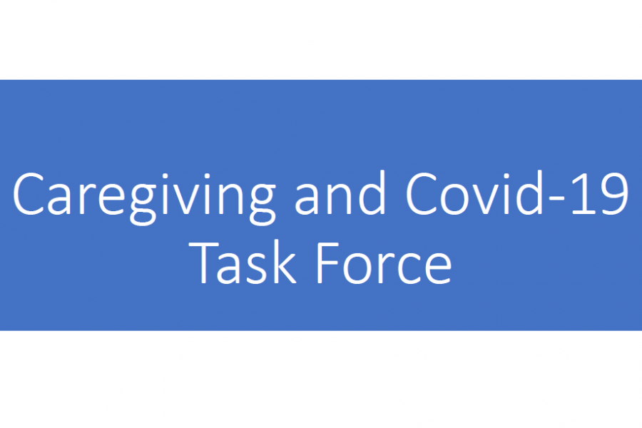 "Text saying ""Caregiving and Covid-19 Task force"""