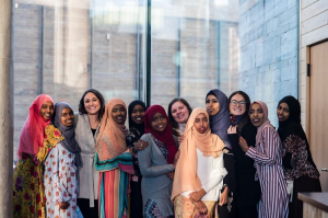 group of Somali refugee women posing for photo