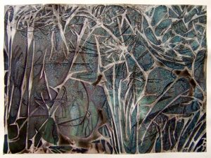 abstract painting of branches