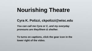 First Slide of Presentation
